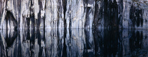 Rock formations reflected in a lake, Precipice Lake, Sequoia National Park, California, USA