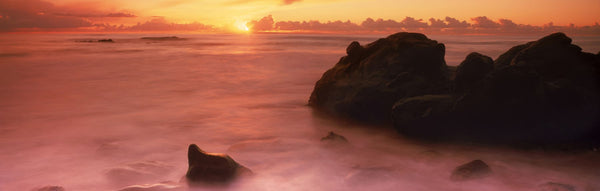 Rock formations on the coast, Laguna Beach, Orange County, California, USA