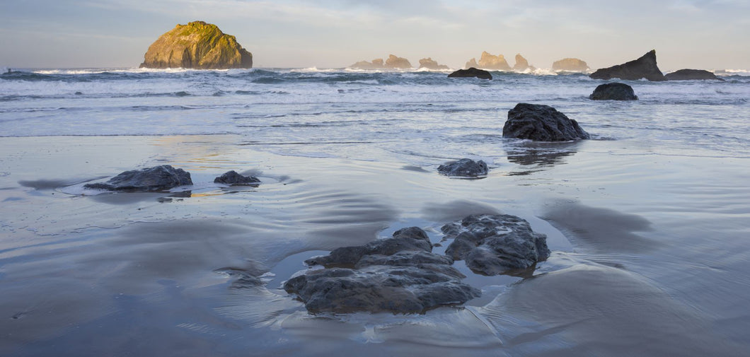 Rock formations in ocean, Bandon, Oregon, USA