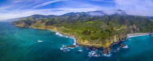 Aerial view of Big Sur coastline, California, USA