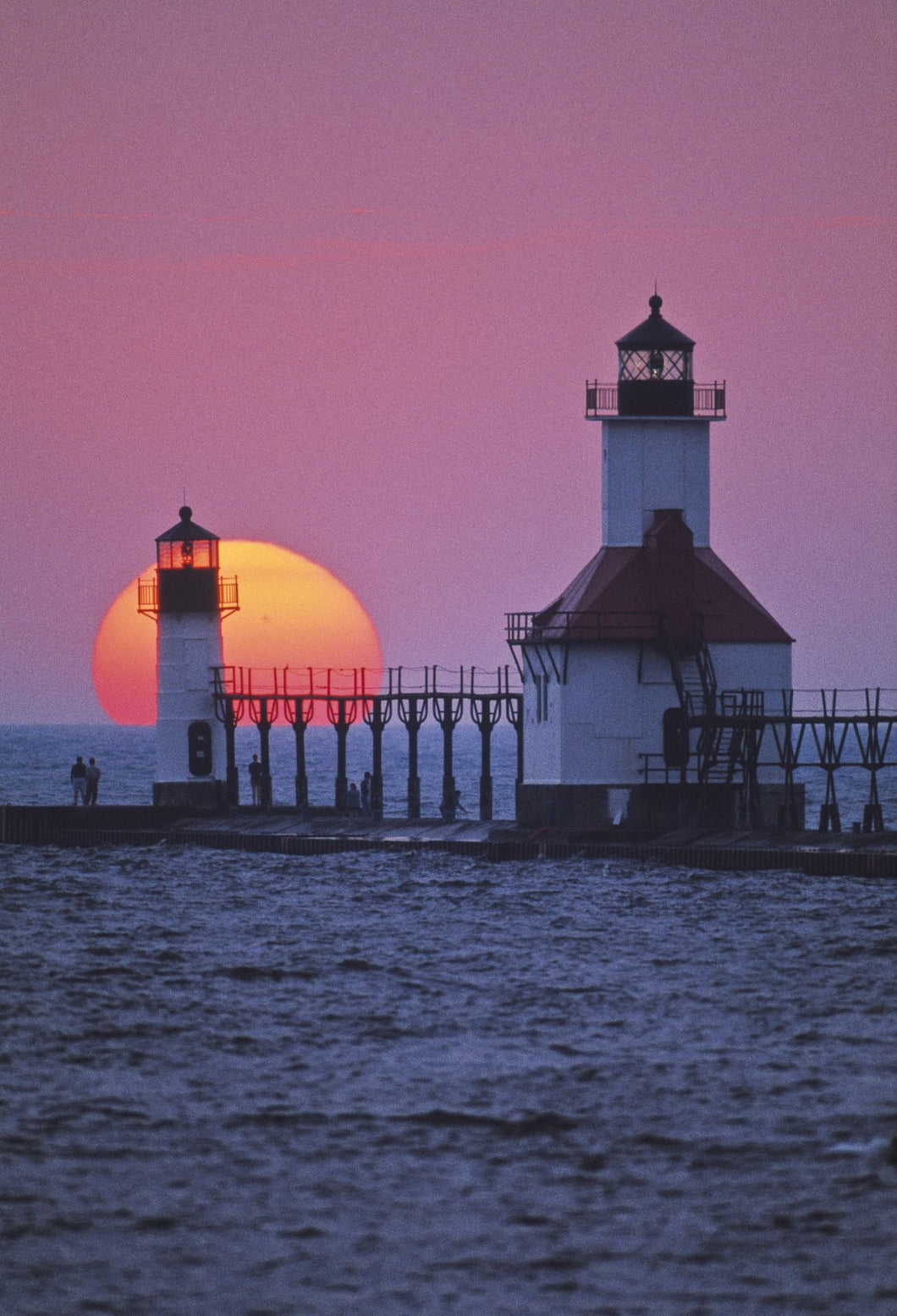 Lighthouse at sunset, St. Joseph, Michigan, USA