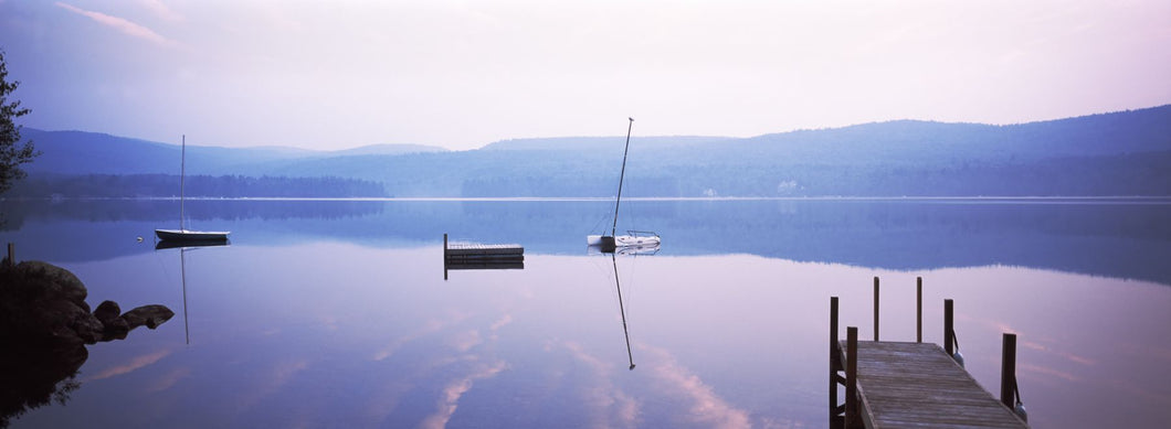 Pier on a lake, Pleasant Lake, Merrimack County, New Hampshire, USA