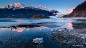 Winter Twilight, Mendenhall Lake, SE Alaska