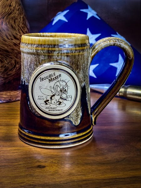 Trouble Maker Handmade Engraved Mug