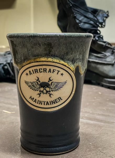 Handmade Engraved Aircraft Maintainer Mug