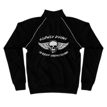 "Load image into Gallery viewer, ""Slowly Dying To Keep Them Flying"" Bomber Jacket"