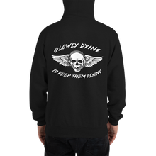 "Load image into Gallery viewer, ""Slowly Dying to Keep Them Flying"" Champion Hoodie"