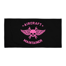 Load image into Gallery viewer, Pink Aircraft Maintainer Towel