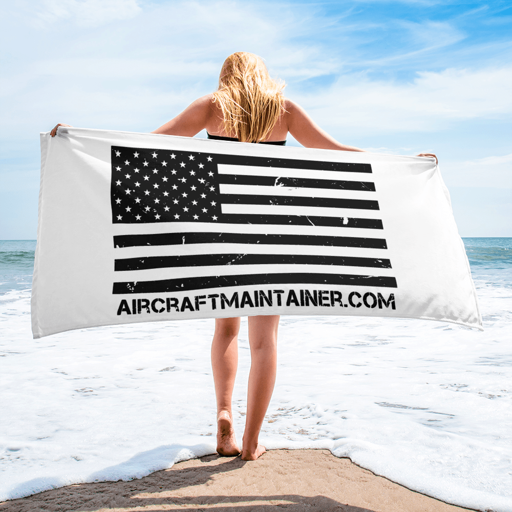 Distressed American Flag Towel