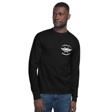 "Load image into Gallery viewer, ""Wash in Oil Rinse in Jet Fuel"" Champion Long Sleeve Tee"