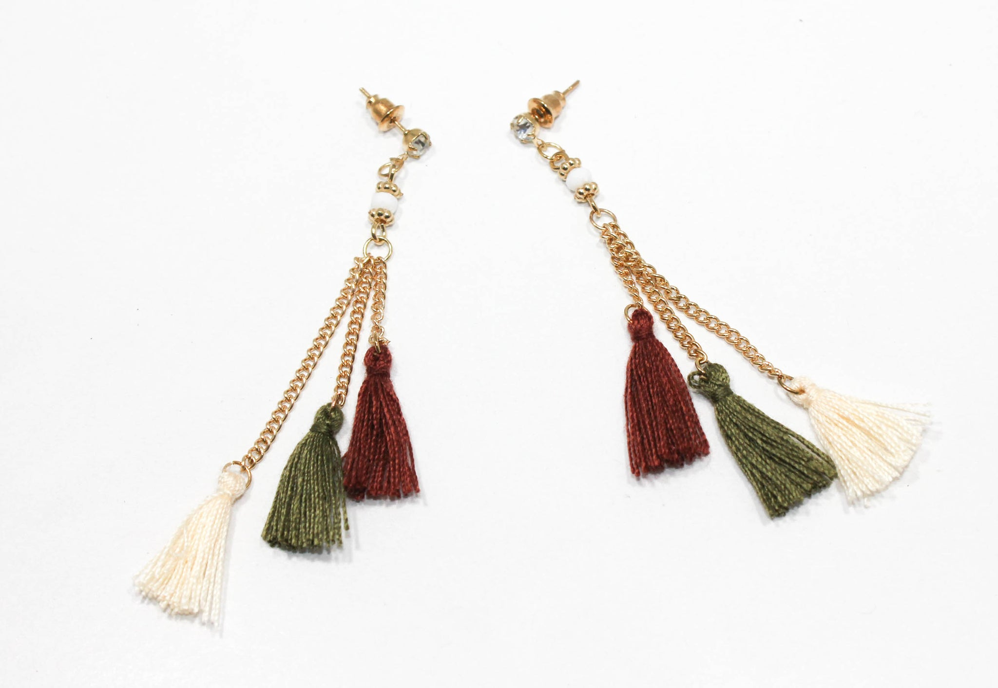 treasures panacea products linear tq colored adi multi earrings pom