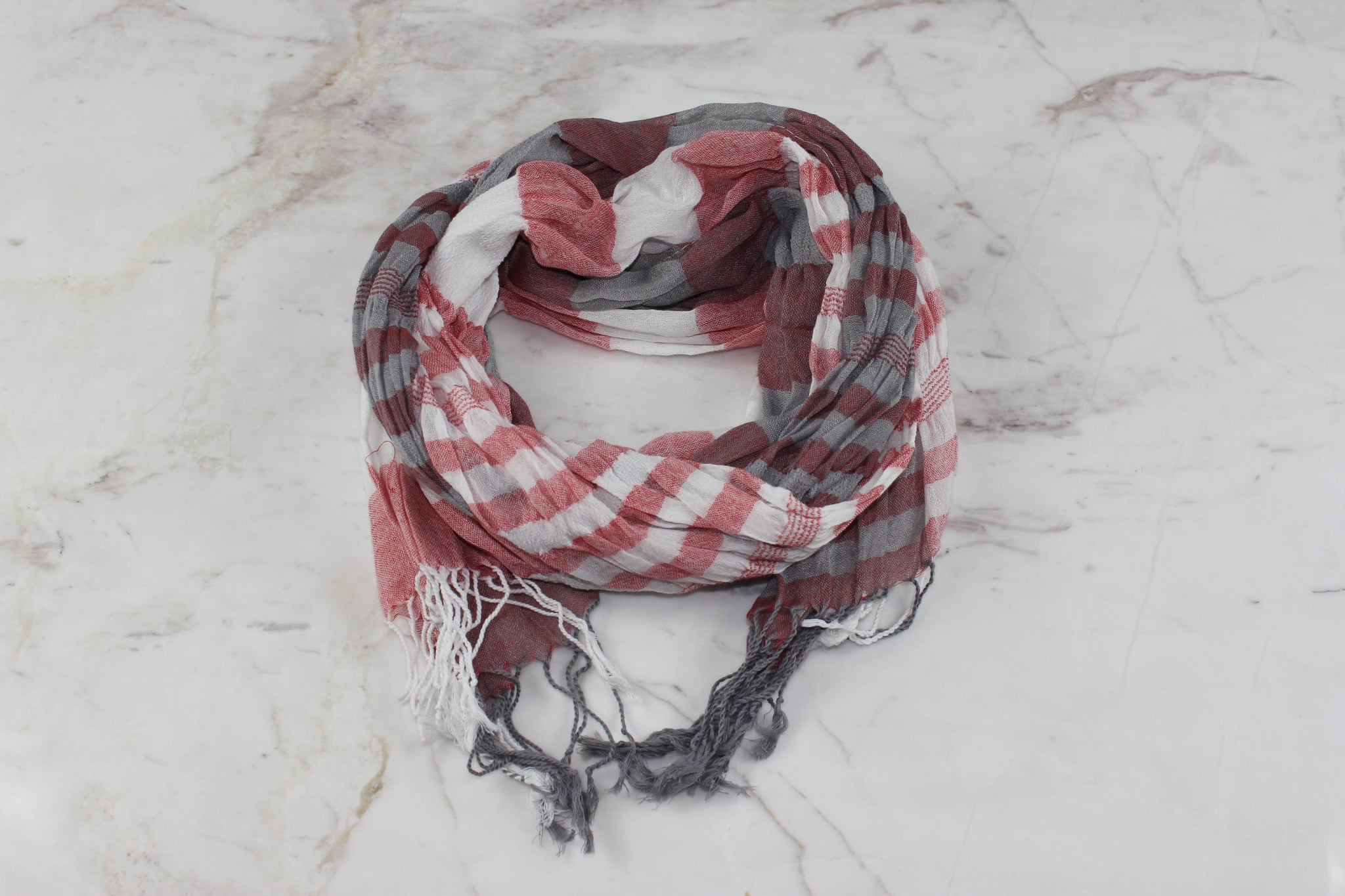 hipster scarf red gray jolieee
