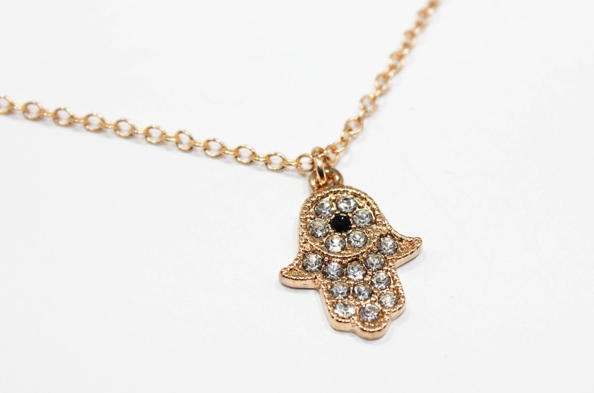hand charm necklace pendant antique hamsa pin silver gift