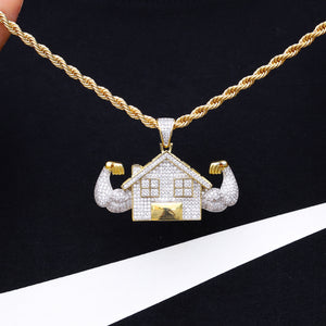 TRAPHOUSE PENDANT W/ ROPE CHAIN