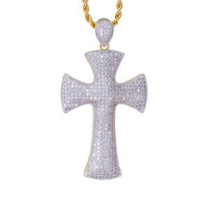 CROSS PENDANT W/ ROPE CHAIN