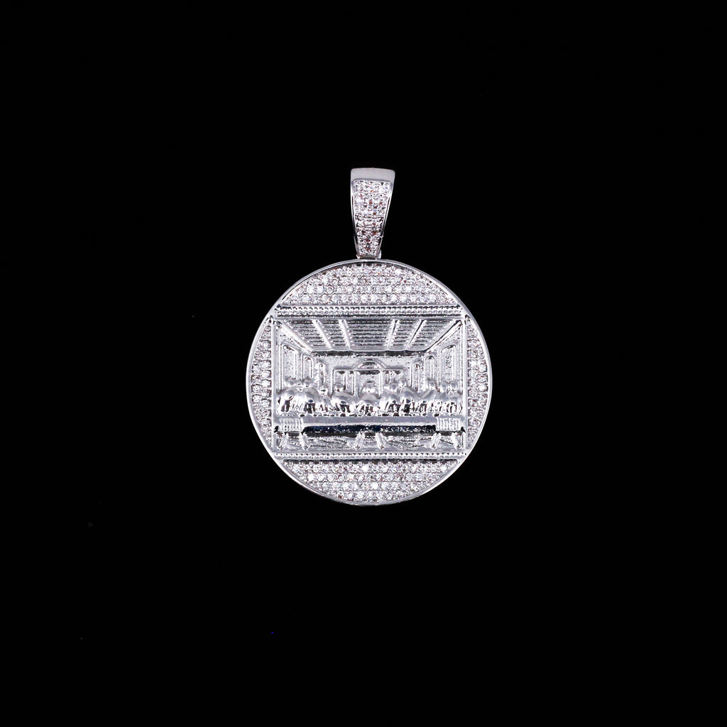LAST SUPPER PENDANT W/ ROPE CHAIN