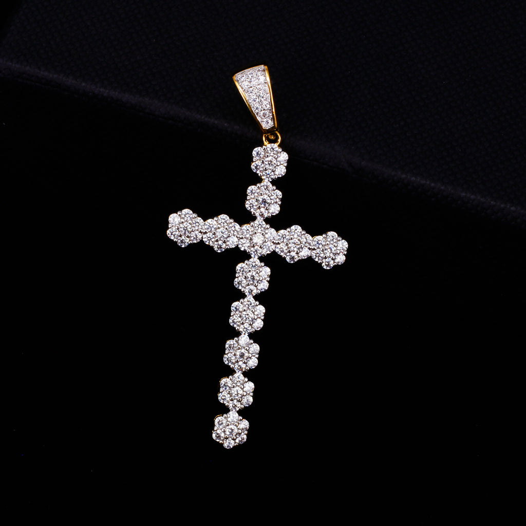 BEADED CROSS PENDANT W/ ROPE CHAIN