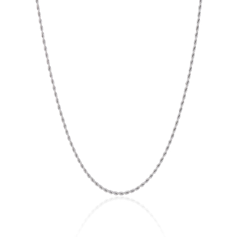 2.5MM SILVER ROPE CHAIN