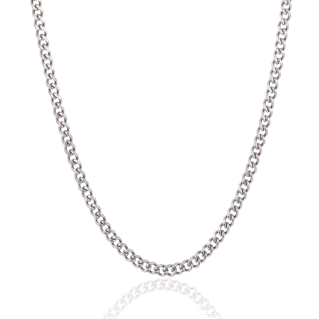 5MM SILVER CUBAN CHAIN