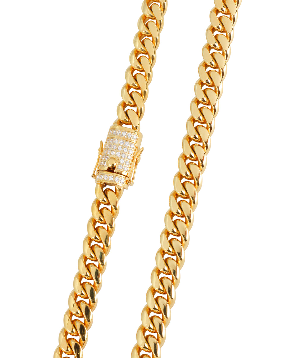 10MM GOLD MIAMI CUBAN CHAIN