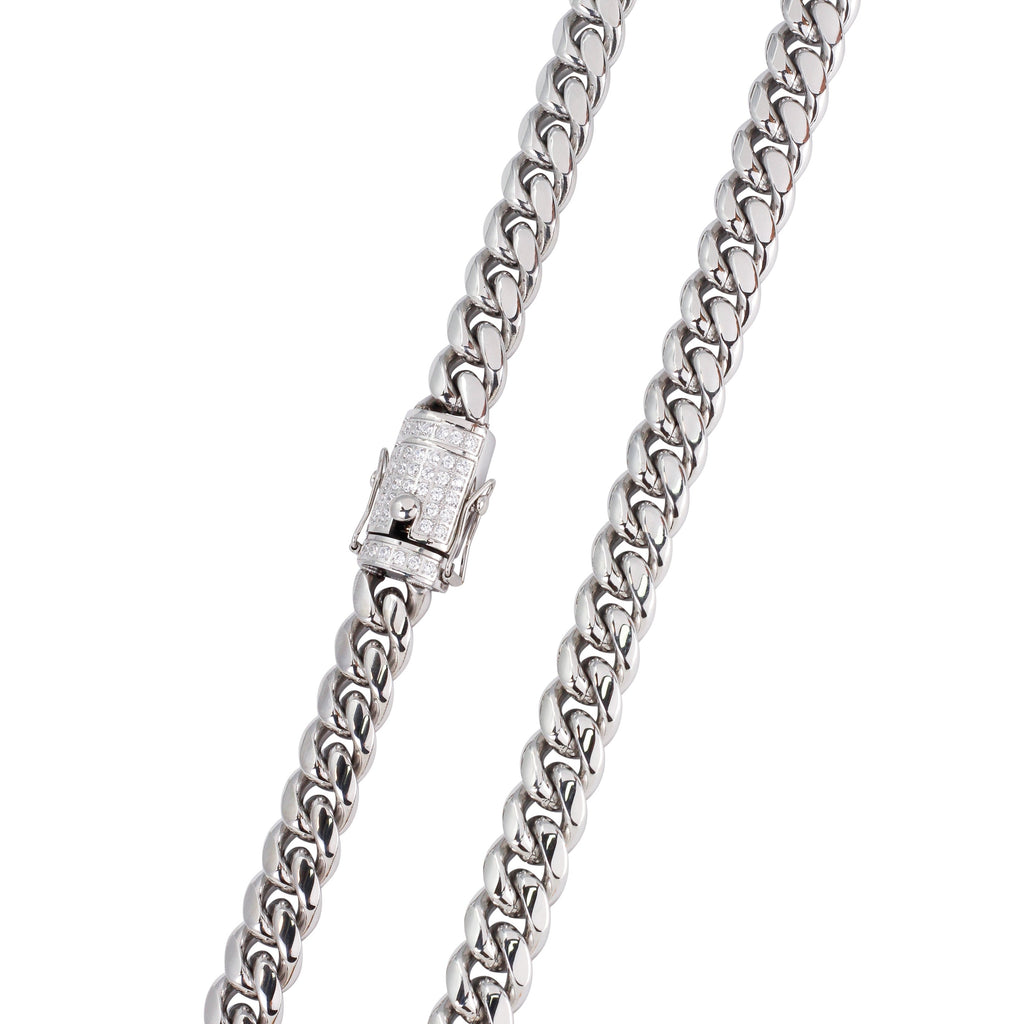10MM SILVER CUBAN CHAIN
