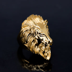 STAINLESS STEEL LION RING