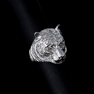 STAINLESS STEEL TIGER RING