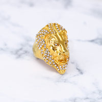 STAINLESS STEEL ICED LION RING