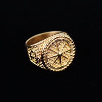 STAINLESS STEEL COMPASS RING