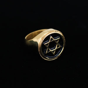 STAINLESS STEEL STAR RING