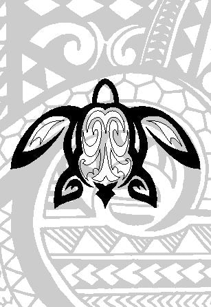 Honu with Tribal Background