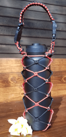 Insulated Flask Multifunction Paracord Bag, 40oz
