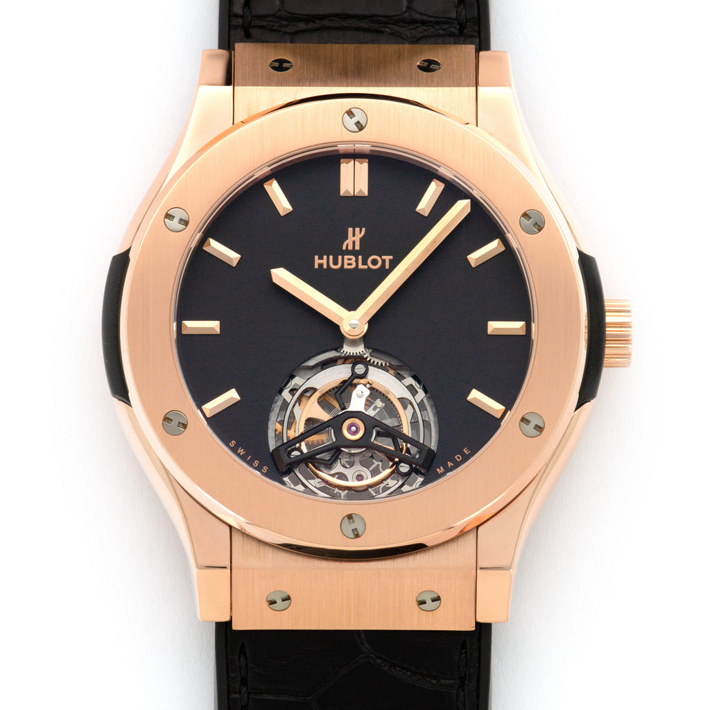 Hublot Classic Fusion 505.OX.1180.LR 18k RG  Mint Unisex 18k RG Black 41mm Manual Current Rubber Box, Manuals, Warranty Card