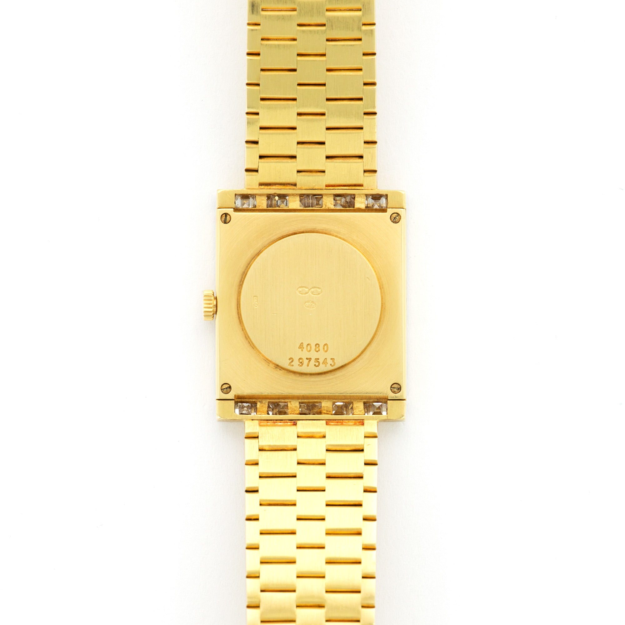 Piaget Vintage 4080 18k YG  Excellent Ladies 18k YG Gold 20.1 X 24.7mm Manual 1980s Yellow Gold Bracelet (156mm) N/A