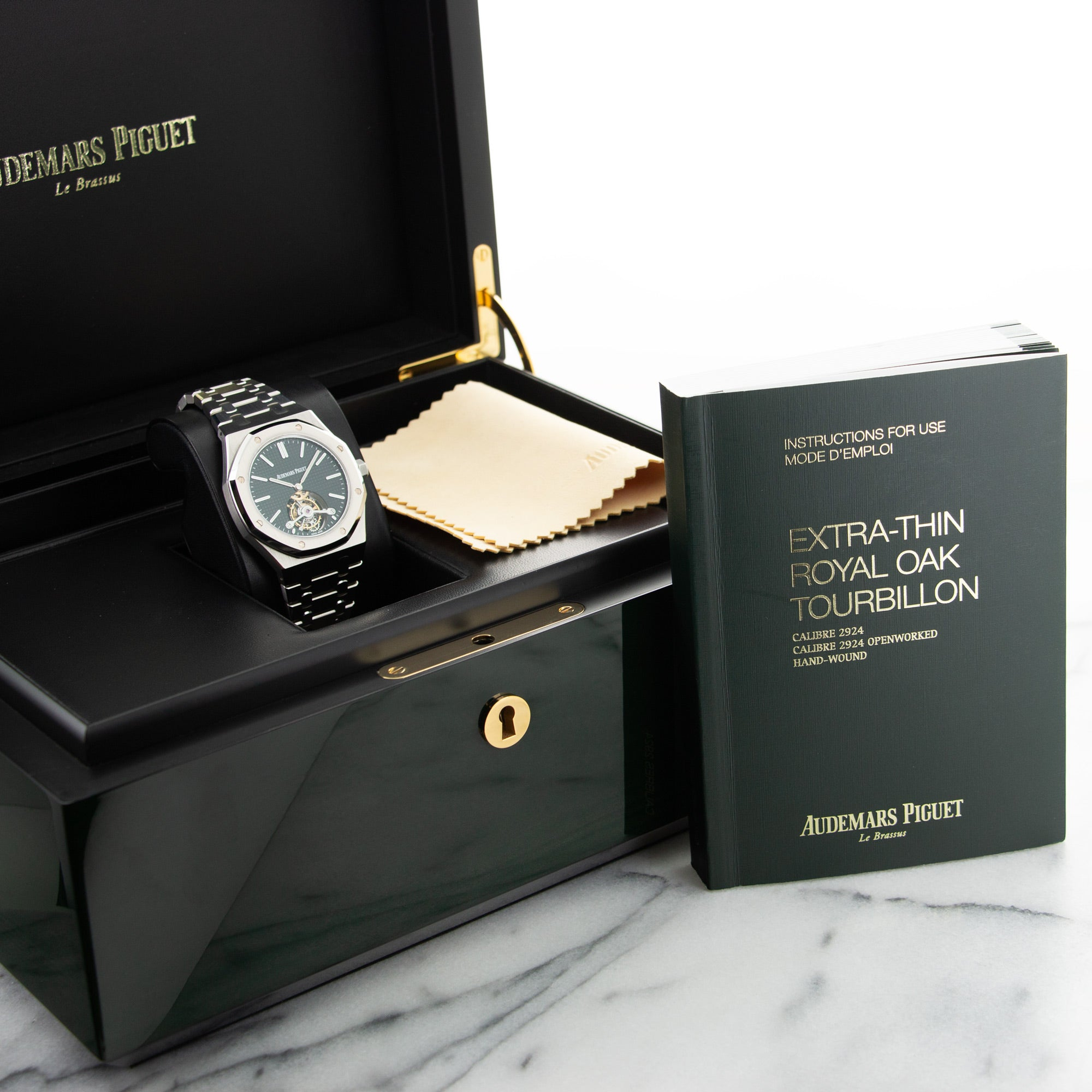 Audemars Piguet Royal Oak 26512ST.OO.1220ST Steel  Mint Gents Steel Black 41mm Automatic Recent Stainless Steel Original Box and Archival Extract Paper