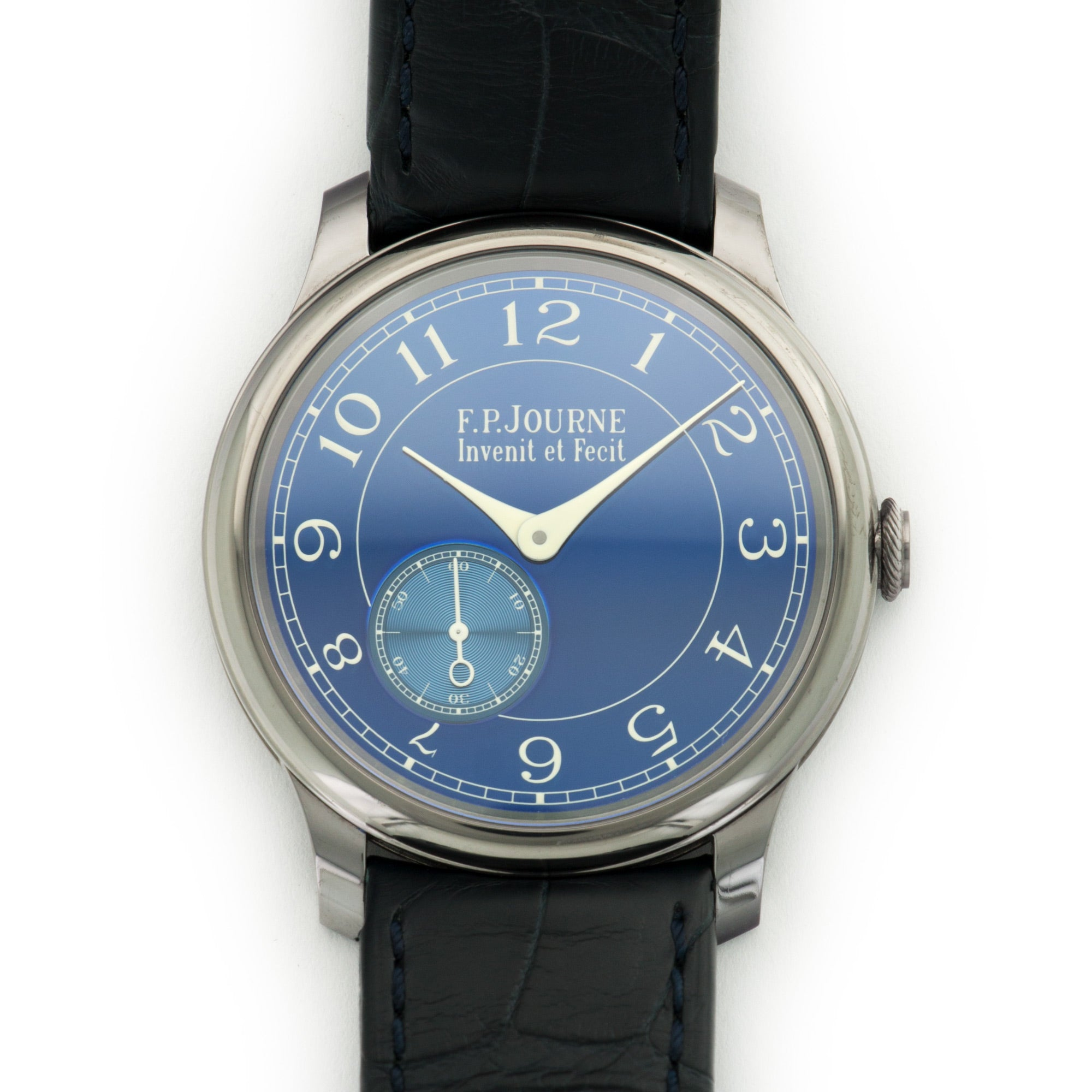 FP Journe Chronometre N/A Tantalum  Likely Never Polished, Original Finish Gents Tantalum Blue 40mm Manual 2016 Dark Blue Crocodile Box, Manuals, Warranty Card