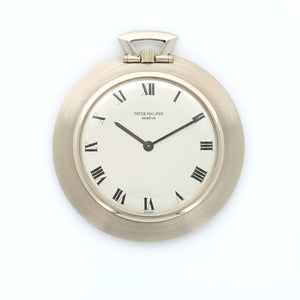 Patek Philippe Pocket Watch 855/1 18k WG  Mint Gents 18k WG SIlver with Black Roman Numerals 42mm Manual 1960s N/A N/A