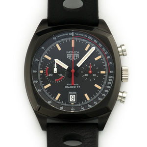 Tag Heuer Monza CR2080.FC6375 PVD Steel  Like New, Worn a Few Times Gents PVD Steel Black 42mm Automatic Current Black Leather Box, Manuals, Warranty Card