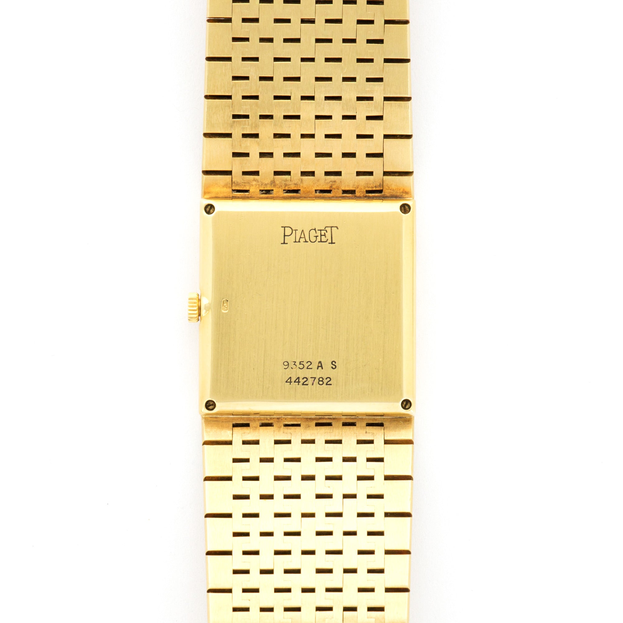 Piaget Vintage 9352 18k YG  Excellent Unisex 18k YG Lapis with Pave Diamonds 23.2mm X 25mm Manual 1970s Yellow Gold Bracelet (185mm) N/A