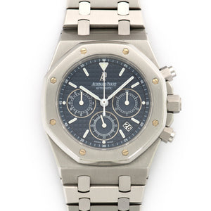 Audemars Piguet Royal Oak Chrono 26300ST.OO.1110ST.04 Steel  Excellent Gents Steel Blue 39mm Automatic Stainless Steel Original Box