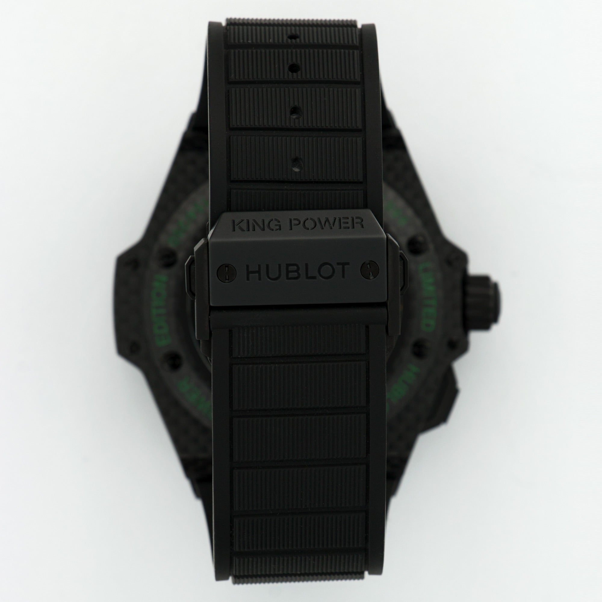 Hublot King Power 771.QX.1179.RX.CSH13 Polyurethane  New Gents Polyurethane Black and Green 48mm Automatic 2017 Rubber B+P