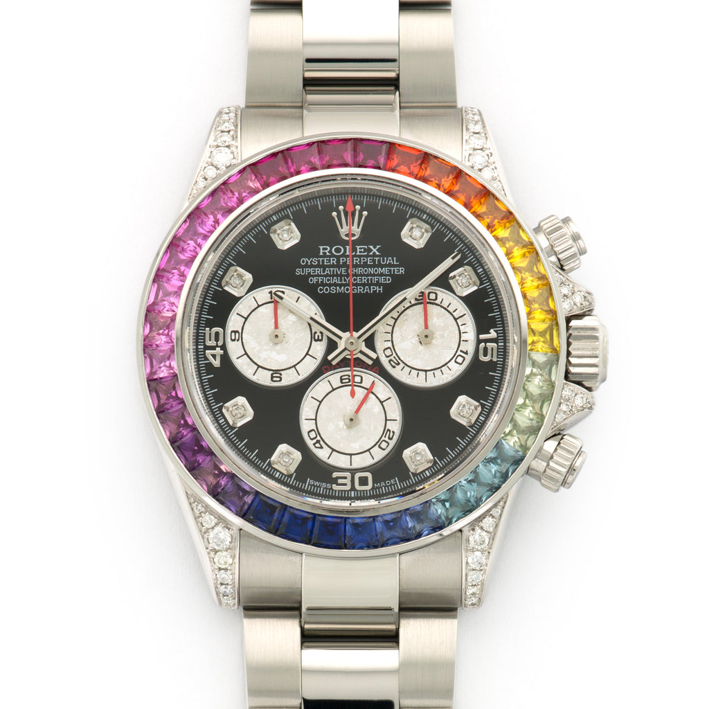 Rolex Daytona 116520 Steel  Excellent Unisex Steel Custom Black 40mm Automatic 2006 Stainless Steel Box & Manuals