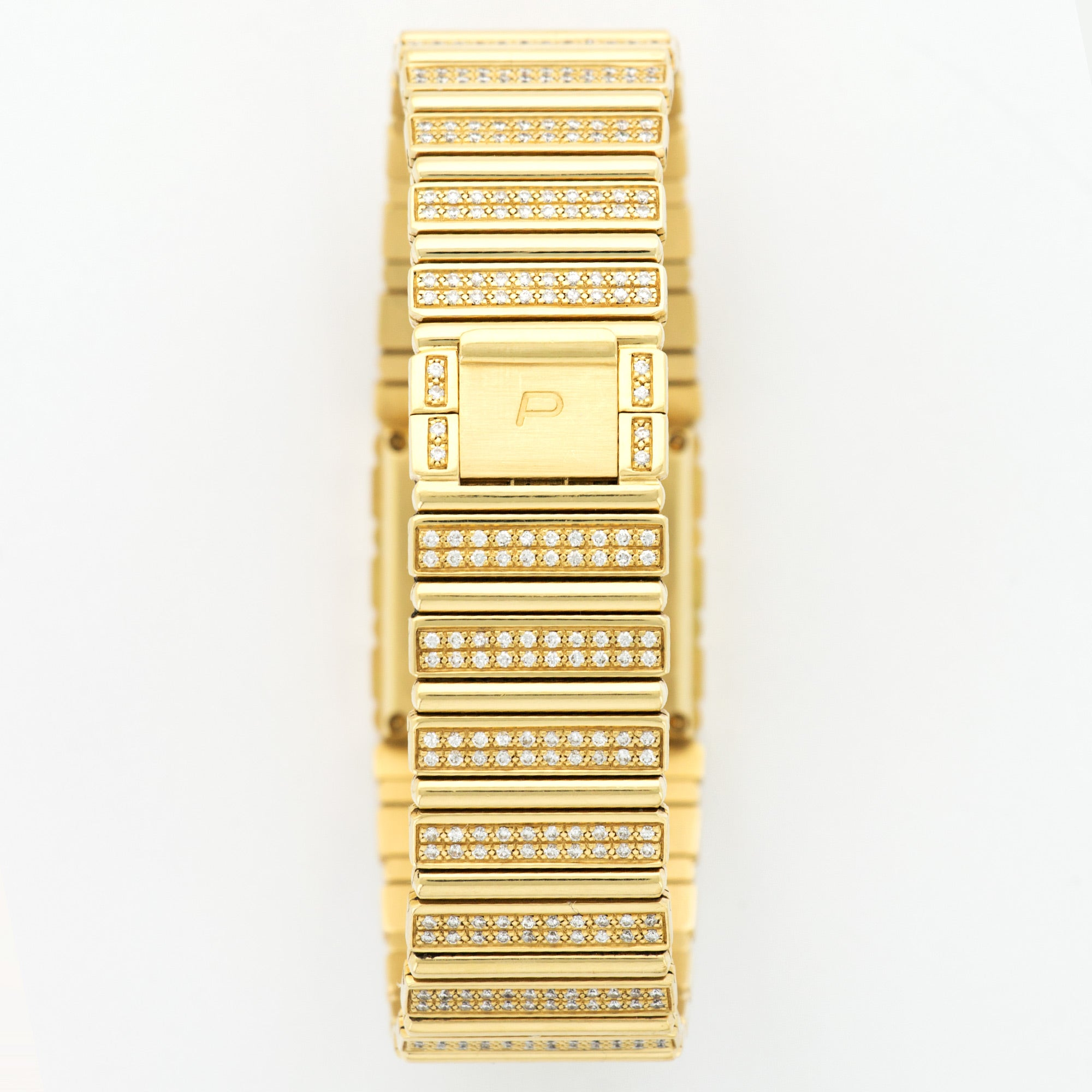 Piaget Polo 18k YG  Very Good Unisex 18k YG Onyx and Diamonds 25.2mm Quartz 1980s Yellow Gold with Diamonds (190mm) N/A