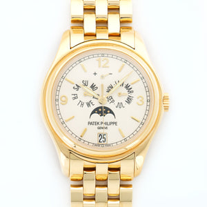 Patek Philippe Annual Calendar 5146/1J 18k YG  Excellent Gents 18k YG Cream 39mm Automatic 2007 Yellow Gold Bracelet B+P