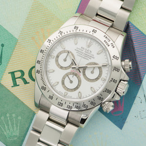 Rolex Daytona 116520 Steel  Likely Never Polished, Original Finish Unisex Steel White 40mm Automatic 2006 Stainless Steel Bracelet Original Warranty Paper