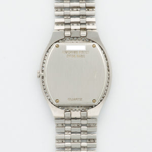 Audemars Piguet Vintage 18k WG  Excellent Unisex 18k WG Pave 31 X 36.5mm Quartz 1980s White Gold Bracelet with Diamonds N/A