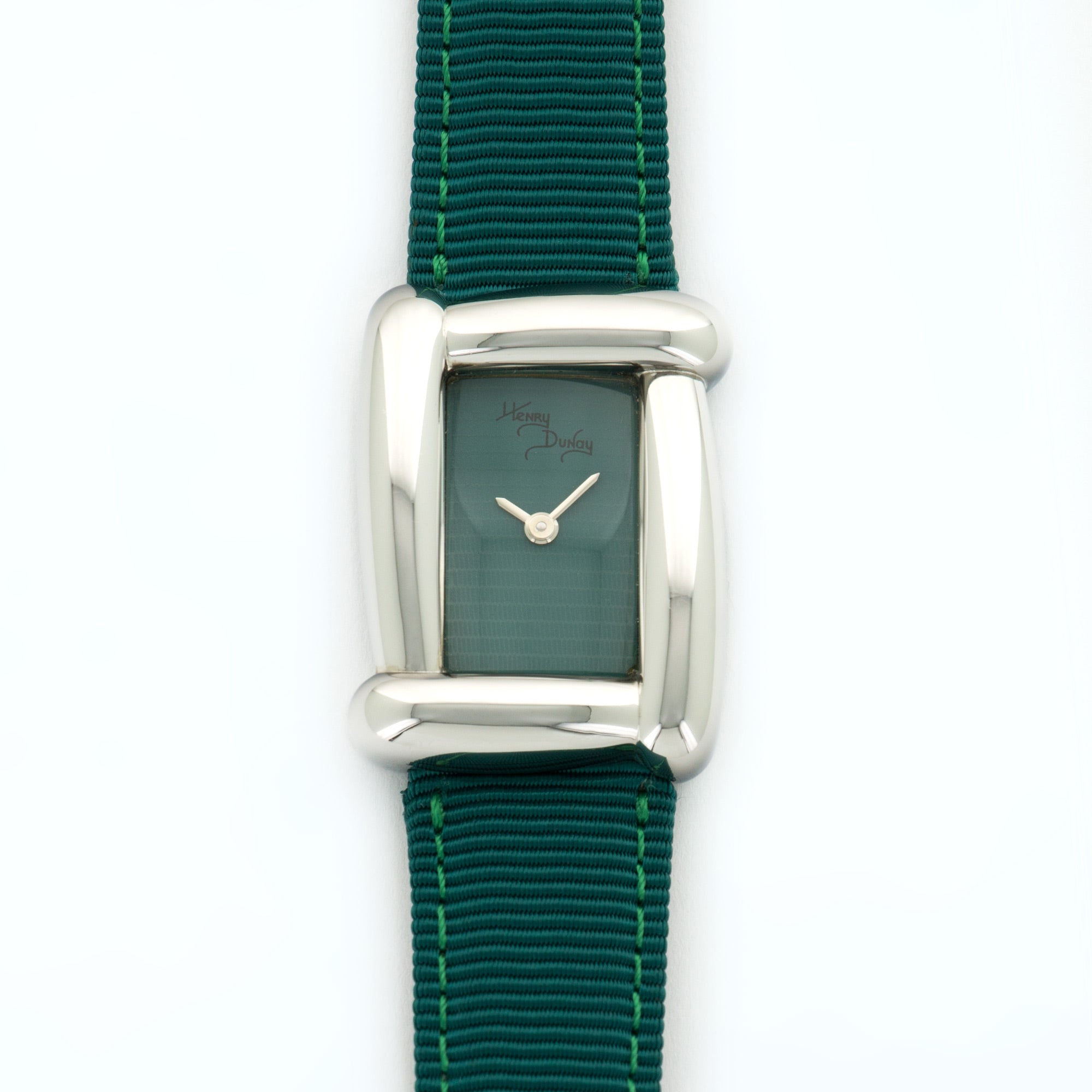 Henry Dunay Sabi N/A Stainless Steel  Unworn Ladies Stainless Steel Green 21.2mm X 29mm Quartz Current Fabric B+P