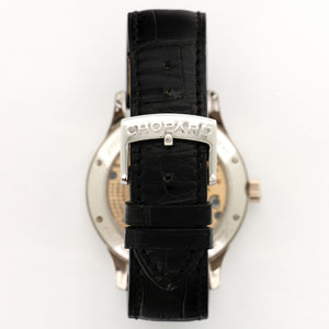 Chopard L.U.C  Tech 161911-9001 Palladium  Mint Gents Palladium Skeletonized 40.5mm Manual 2000s Black Crocodile Original Box and Certificate