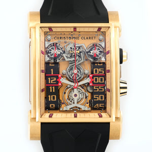 Christophe Claret Dual Tow OR10CC2A 18k RG  New Gents 18k RG Skeleton 44.5mm X 63mm Manual Current Rubber B+P