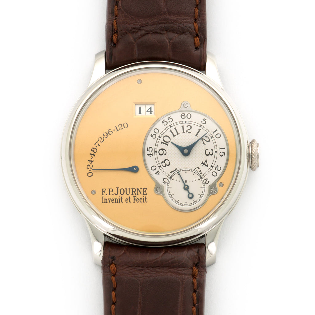 FP Journe Octa Reserve de Marche N/A Platinum  Likely Never Polished, Original Finish Gents Platinum Yellow Gold Dial 38mm Automatic 2003 Brown Crocodile Box, Manuals, Warranty Card